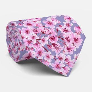 Cherry blossom pattern tie