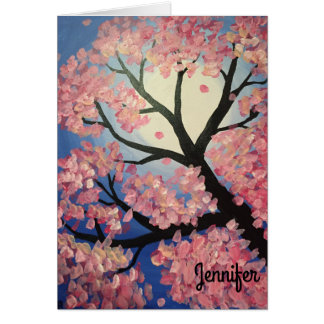 Cherry Blossom Personalized Note Card