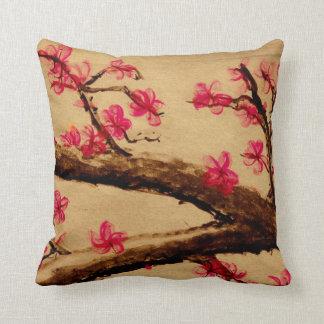 Cherry Blossom Pillow! Throw Pillow