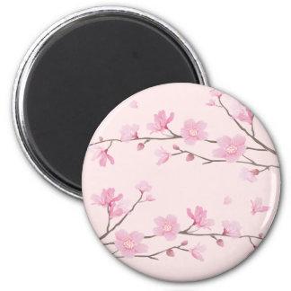 Cherry Blossom - Pink 2 Inch Round Magnet