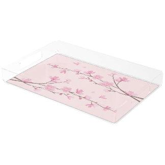 Cherry Blossom - Pink Acrylic Tray