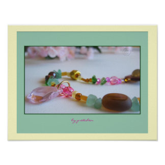 Cherry Blossom Pink Beaded Necklace Poster 2
