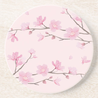 Cherry Blossom - Pink Beverage Coasters
