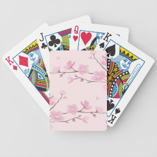 Cherry Blossom - Pink Bicycle Playing Cards