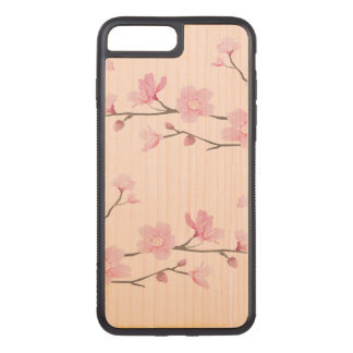 Cherry Blossom - Pink Carved iPhone 8 Plus/7 Plus Case