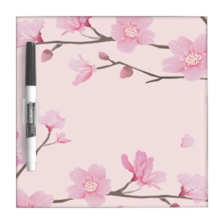 Cherry Blossom - Pink Dry Erase Board