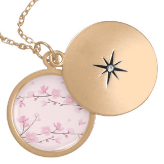 Cherry Blossom - Pink Gold Plated Necklace