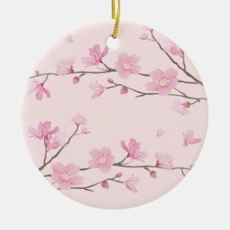 Cherry Blossom - Pink - HAPPY BIRTHDAY Ceramic Ornament