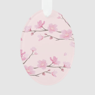 Cherry Blossom - Pink - HAPPY BIRTHDAY Ornament
