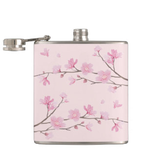 Cherry Blossom - Pink Hip Flask