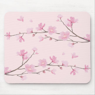 Cherry Blossom - Pink Mouse Pad