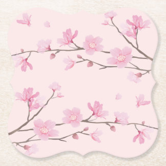 Cherry Blossom - Pink Paper Coaster