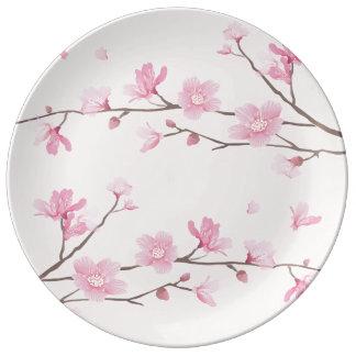 Cherry Blossom - Pink Porcelain Plates