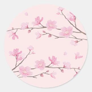 Cherry Blossom - Pink Round Sticker