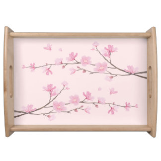Cherry Blossom - Pink Serving Tray