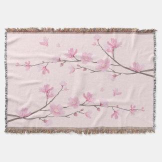 Cherry Blossom - Pink Throw
