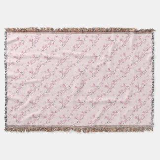 Cherry Blossom - Pink Throw Blanket