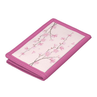 Cherry Blossom - Pink Trifold Wallets