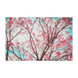 Cherry Blossom  | Pink | Yoga Canvas Print