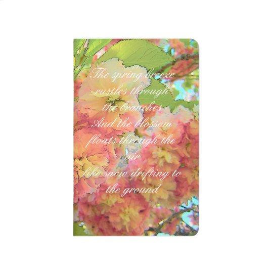 Cherry blossom poem journal