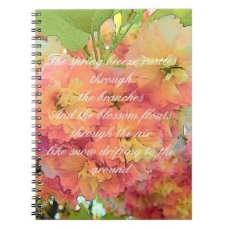 Cherry blossom poem notebook