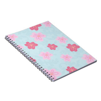 Cherry blossom print spiral notebooks