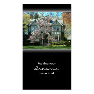 Cherry Blossom Real Estate House Business Card