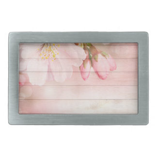 Cherry Blossom Rectangular Belt Buckle