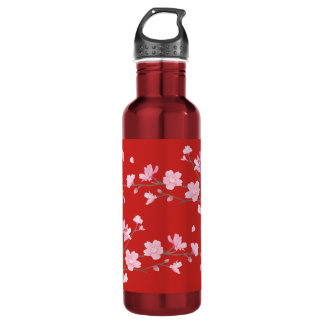 Cherry Blossom - Red 710 Ml Water Bottle