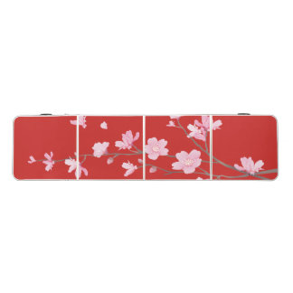 Cherry Blossom - Red Beer Pong Table
