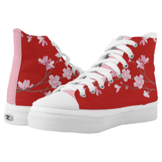Cherry Blossom - Red High Tops