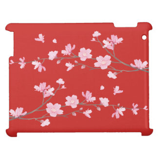 Cherry Blossom - Red iPad Cover