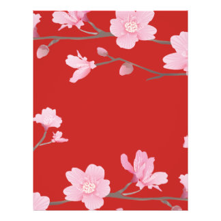 Cherry Blossom - Red Letterhead
