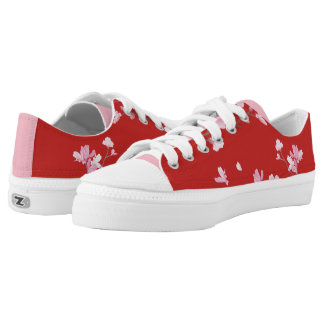 Cherry Blossom - Red Low-Top Sneakers