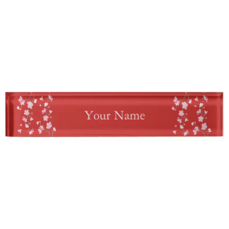 Cherry Blossom - Red Name Plate