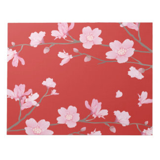 Cherry Blossom - Red Notepad
