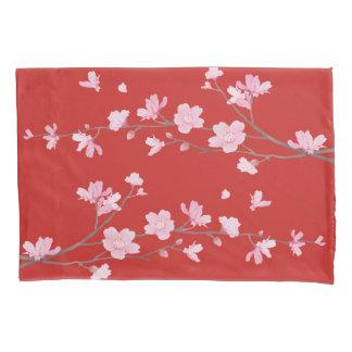 Cherry Blossom - Red Pillowcase