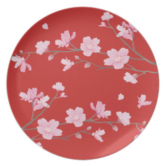 Cherry Blossom - Red Plate