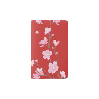 Cherry Blossom - Red Pocket Moleskine Notebook