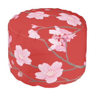 Cherry Blossom - Red Pouf
