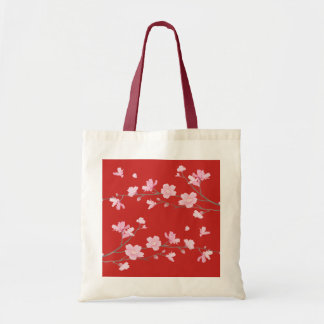 Cherry Blossom - Red Tote Bag