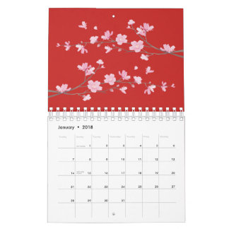 Cherry Blossom - Red Wall Calendars