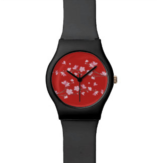 Cherry Blossom - Red Wrist Watches