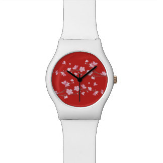 Cherry Blossom - Red Wristwatches