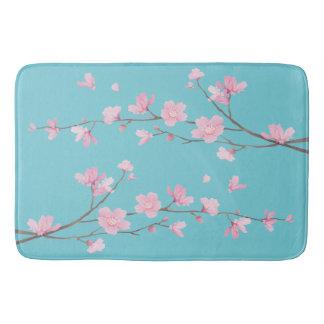 Cherry Blossom - Robin Egg Blue Bath Mat