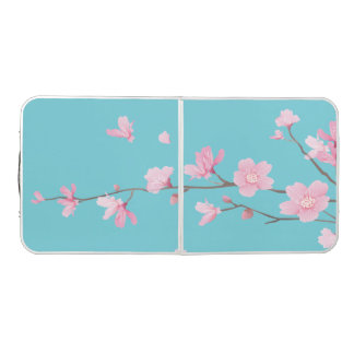Cherry Blossom - Robin egg blue Beer Pong Table