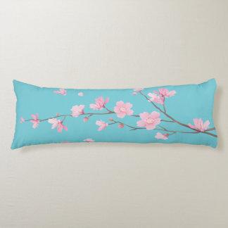 Cherry Blossom - Robin egg blue Body Pillow