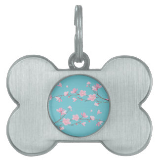 Cherry Blossom - Robin egg blue Pet Name Tag