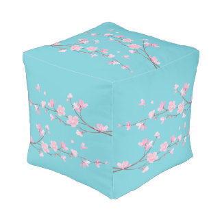 Cherry Blossom - Robin egg blue Pouf