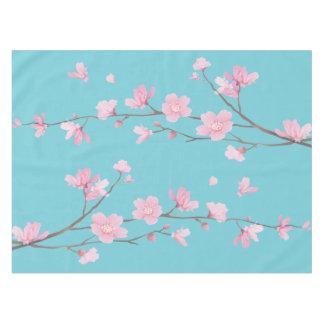 Cherry Blossom - Robin Egg Blue Tablecloth